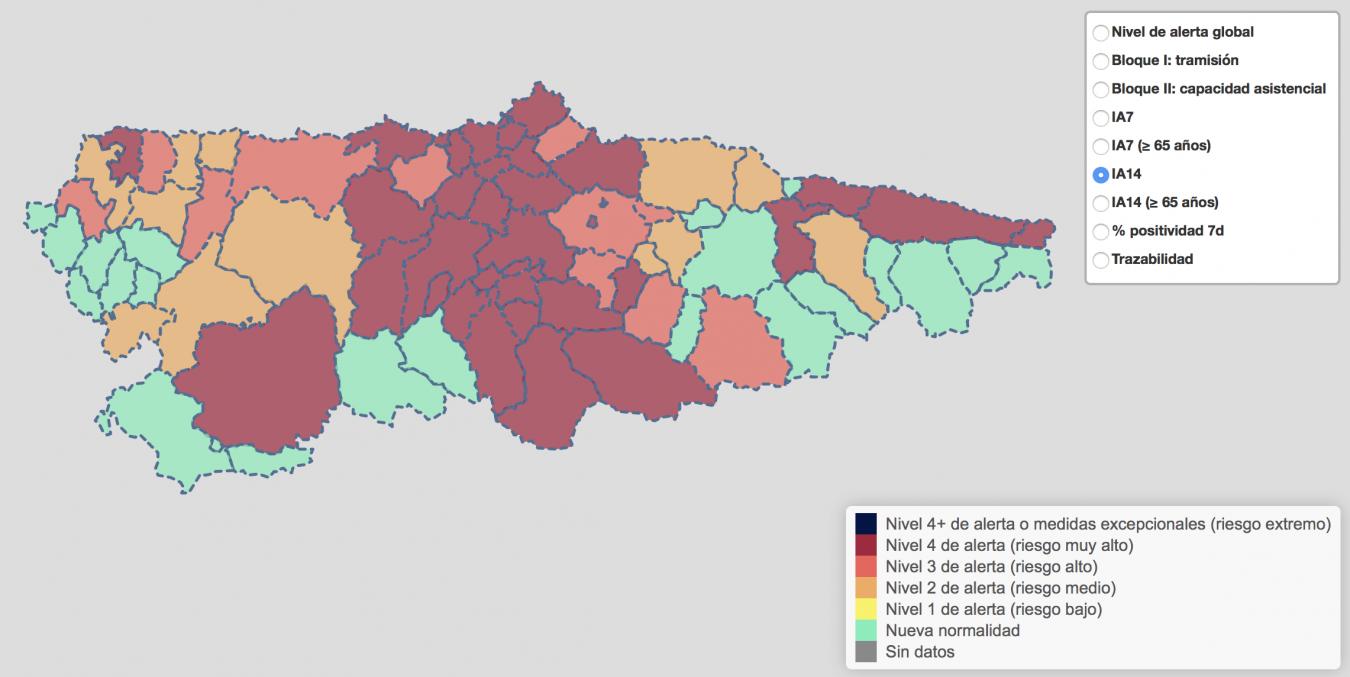 El repunte de positivos en Llanes, Parres, Ribadesella y Ribadedeva eleva a 190 los contagios en la comarca desde el inicio del año
