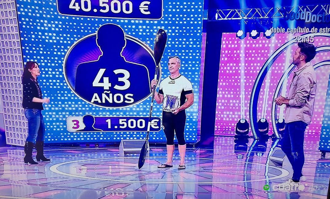 Emilio Merchán promociona el Descenso Internacional del Sella en un concurso de televisión