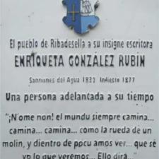 La riosellana Enriqueta González Rubín, la primera escritora europea que ha novelado una historia en su lengua materna