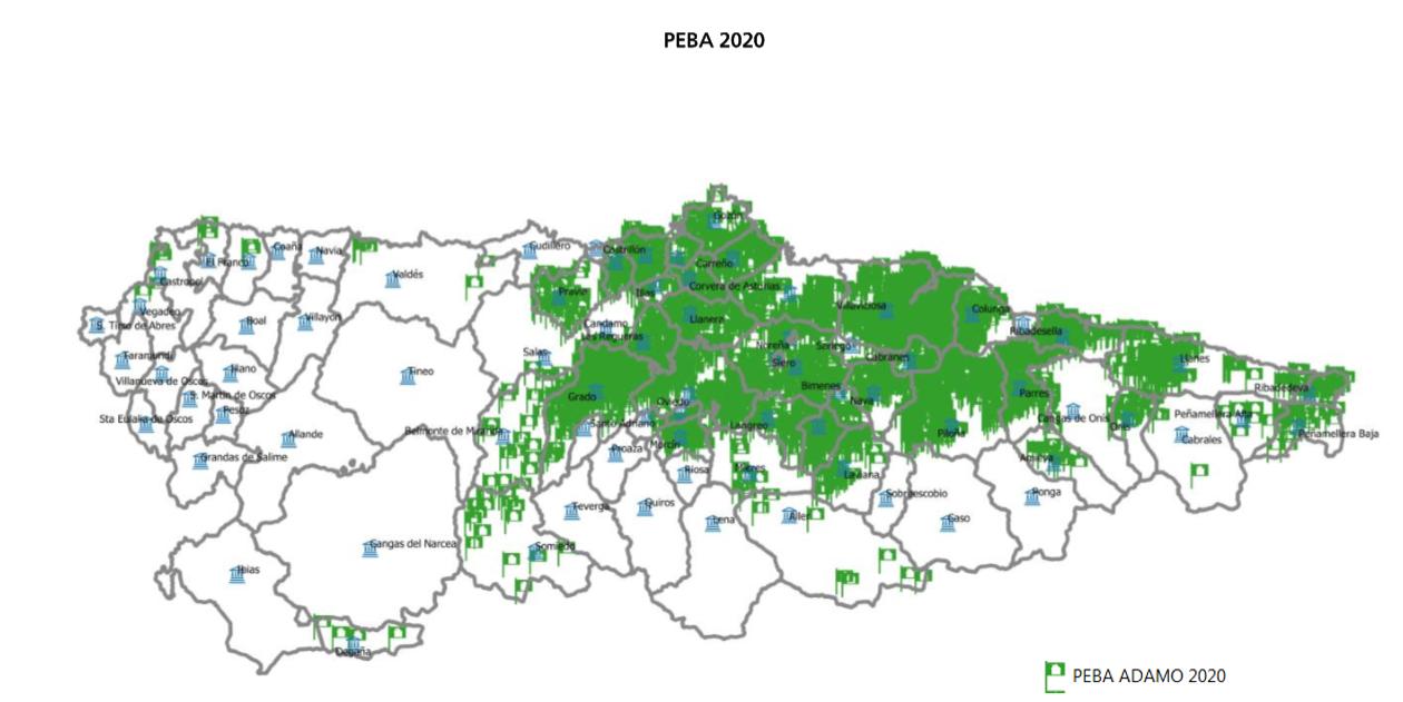 La fibra óptica llegará a 2.573 localidades y 42.800 viviendas asturianas este año