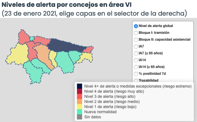 El Oriente de Asturias llega a los 230 positivos en la tercera ola con Llanes, Parres y Ribadesella a la cabeza