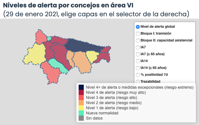 El Oriente de Asturias suma 4 positivos en coronavirus en la mejor jornada de los últimos veinte días