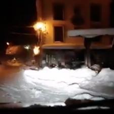 Riesgo notable de aludes en los Picos de Europa capaces de sepultar coches