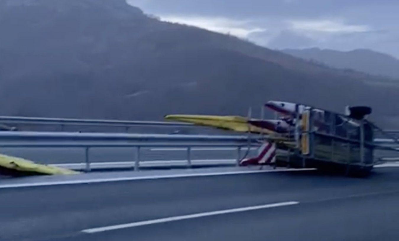 Accidente de la K4 Olímpica en la autopista del Huerna