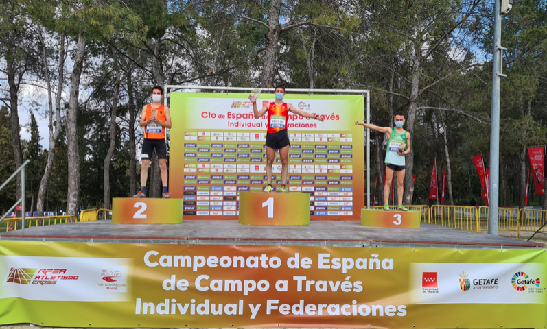 Alejandro Onís (COA) bronce Sub23 en el Nacional de Campo a Través disputado en Getafe