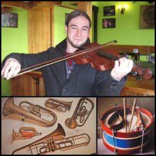 Rigu Suárez continúa a la caza de instrumentos musicales antiguos en el concejo de Ribadesella