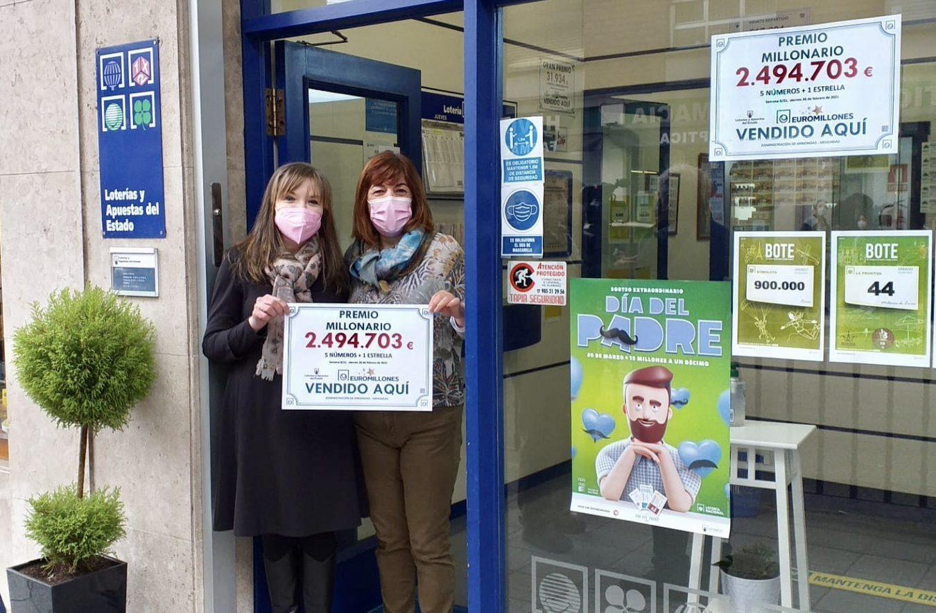 El EuroMillones deja un premio de 2.494.000 euros en Arriondas
