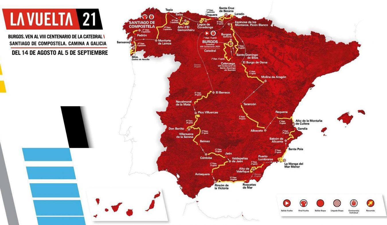 Los Lagos serán final de etapa en La Vuelta 2021 el miércoles 1 de septiembre