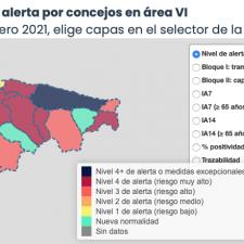 El mes de febrero comienza con 6 nuevos positivos en el oriente de Asturias