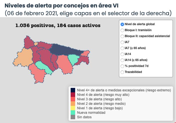 Colunga y Ribadesella los municipios que mas empeoran su situación epidemiológica