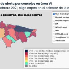Los casos activos por coronavirus en el Oriente de Asturias bajan por séptimo día consecutivo
