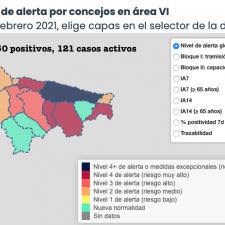 El Oriente de Asturias suma 6 nuevos positivos, pero los casos activos caen en picado