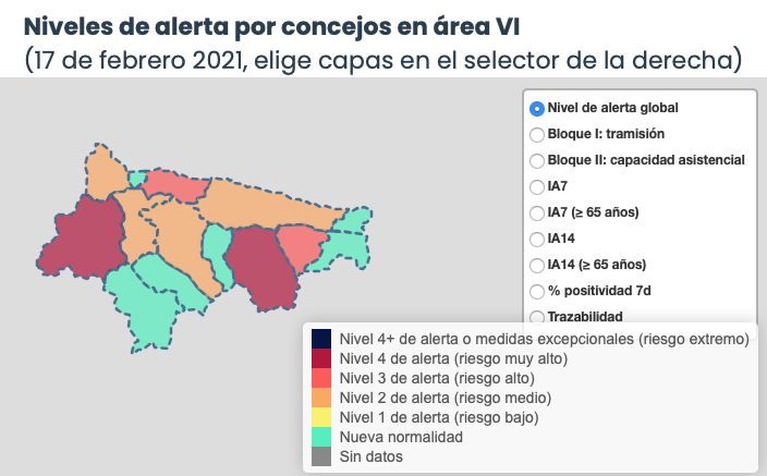 Salud suma un nuevo contagio en el Oriente de Asturias, donde los casos activos siguen bajando