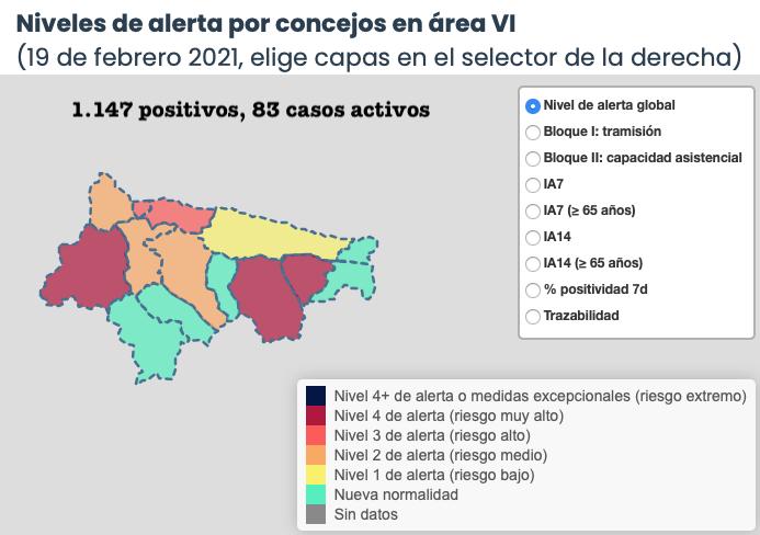 Piloña, Ribadesella y Cabrales empeoran su situación epidemiológica