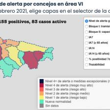 Los 8 nuevos contagios asignados al Oriente de Asturias se los queda un solo concejo