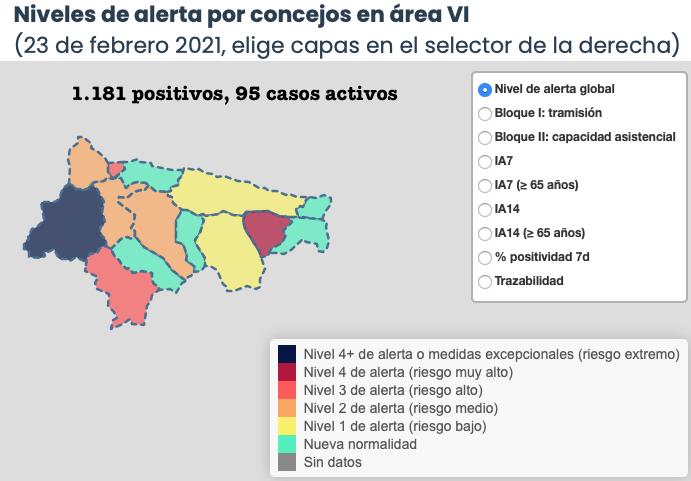 Los contagios no se detienen en Piloña en una jornada con 7 nuevos positivos en el Oriente de Asturias