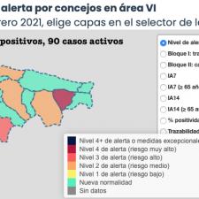 Piloña, Ribadesella, Llanes y Cangas de Onís se reparten los nuevos contagios del jueves