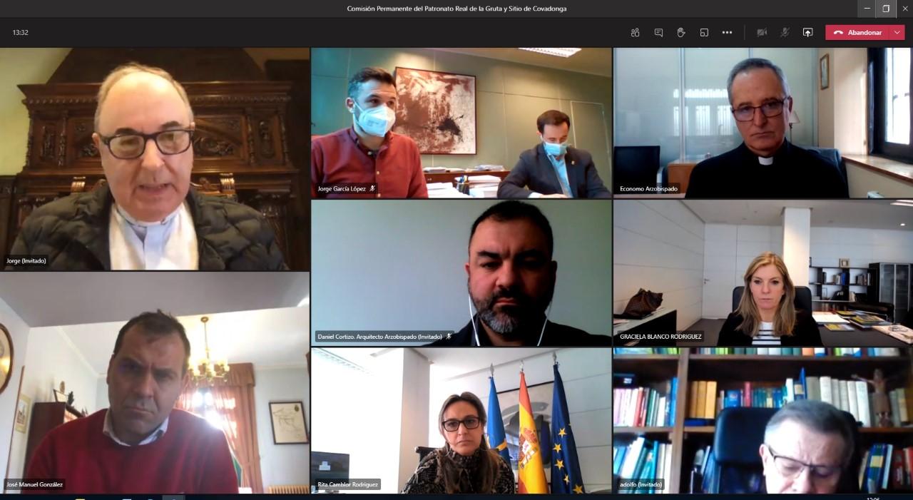 Primera reunión del Patronato del Real Sitio y Gruta de Covadonga en la presente legislatura