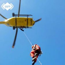 Evacuado al Hospital de Arriondas un esquiador de 74 años que sufrió una caída en los Picos de Europa