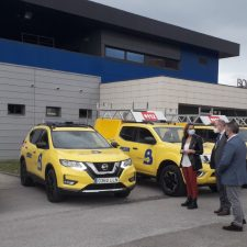 Nuevos vehículos para los parques de bomberos de Cangas de Onís, Mieres, Avilés y La Morgal