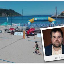 El presidente de la Federación Asturiana de Voleibol quiere que el Voley Playa regrese a Ribadesella el próximo verano