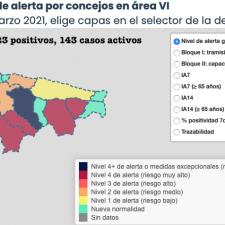 Cangas de Onís registra su primera mejoría, pero Llanes vuelve a empeorar