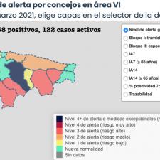 El Oriente de Asturias suma 13 nuevos contagios y llega a los 3.218 inmunizados
