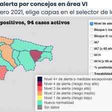 Piloña continúa en riesgo extremo, pero la comarca oriental se tiñe de verde para despedir febrero