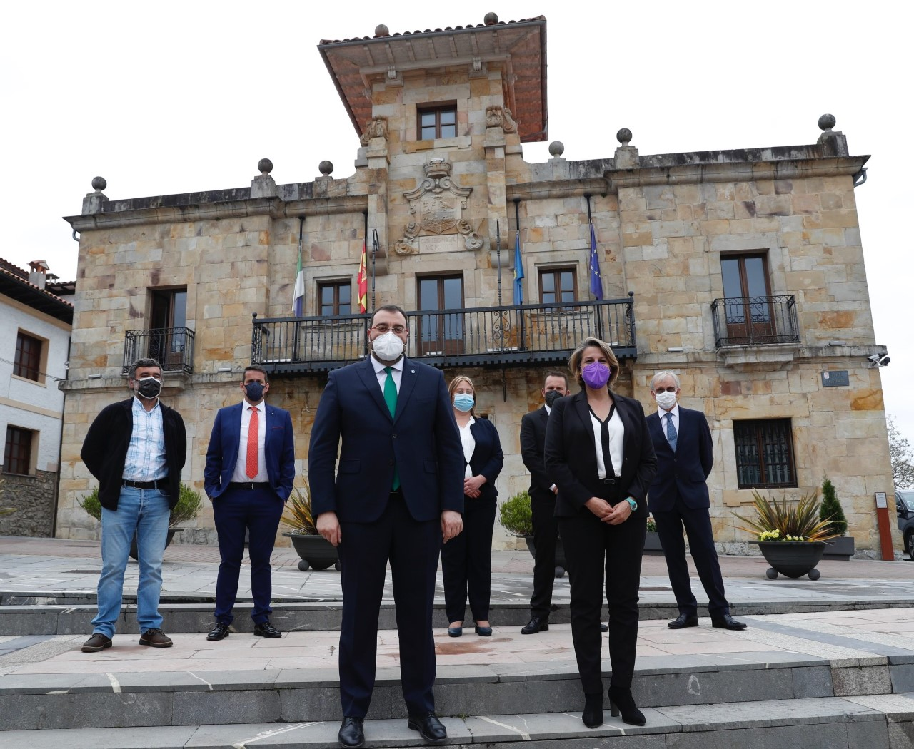 Visita institucional del Presidente del Principado, Adrián Barbón, al concejo de Colunga