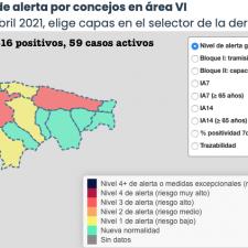 El Oriente de Asturias suma cinco nuevos positivos en otra jornada de mejoría general