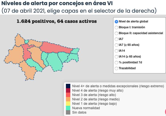 Salud anota 8 nuevos positivos en cuatro municipios del Oriente de Asturias