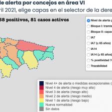 El Oriente de Asturias registra 5 nuevos contagios que empeoran su incidencia acumulada