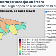 Un repunte de 11 nuevos contagios empeora la situación en tres concejos del Oriente de Asturias