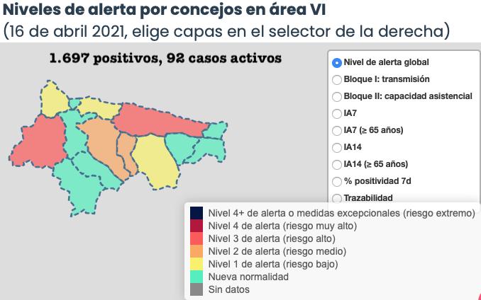 Evolución desfavorable de la pandemia en el Oriente de Asturias con 10 positivos mas