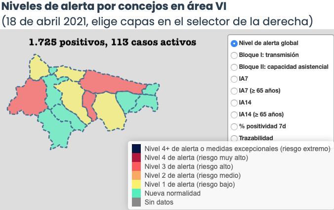 Llanes, Onís y Ribadesella los únicos municipios de la comarca que empeoran su situación epidemiológica