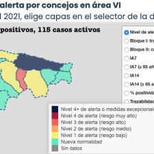 El Oriente de Asturias registró cinco positivos mas durante la jornada de ayer martes
