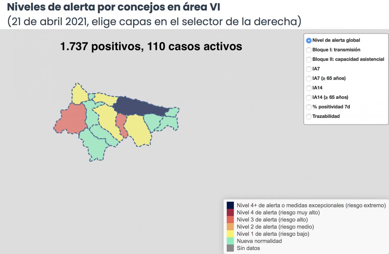 Los nuevos positivos en el Oriente de Asturias se reducen a tres únicos casos