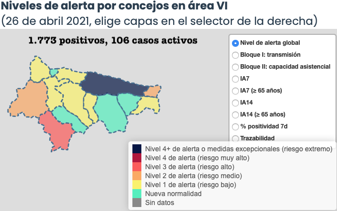 El coronavirus se toma un día de vacaciones en el Oriente de Asturias