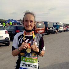 Milagros Alvarez una atleta de record, plusmarquista nacional en cinco distancias y Campeona de España de Montaña