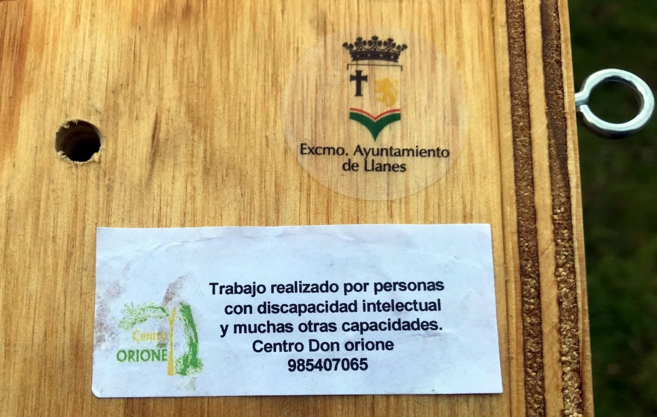 Usuarios del Don Orione construyen nidos de madera para las aves silvestres que habitan en la villa de Llanes