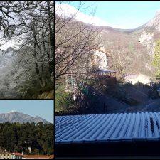 Las precipitaciones del fin de semana fueron de nieve en Picos, en Sotres y en el Pienzu