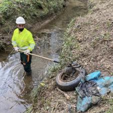 La CHC concluye la limpieza de varios ríos en los concejos de Parres, Amieva y Peñamellera Baja