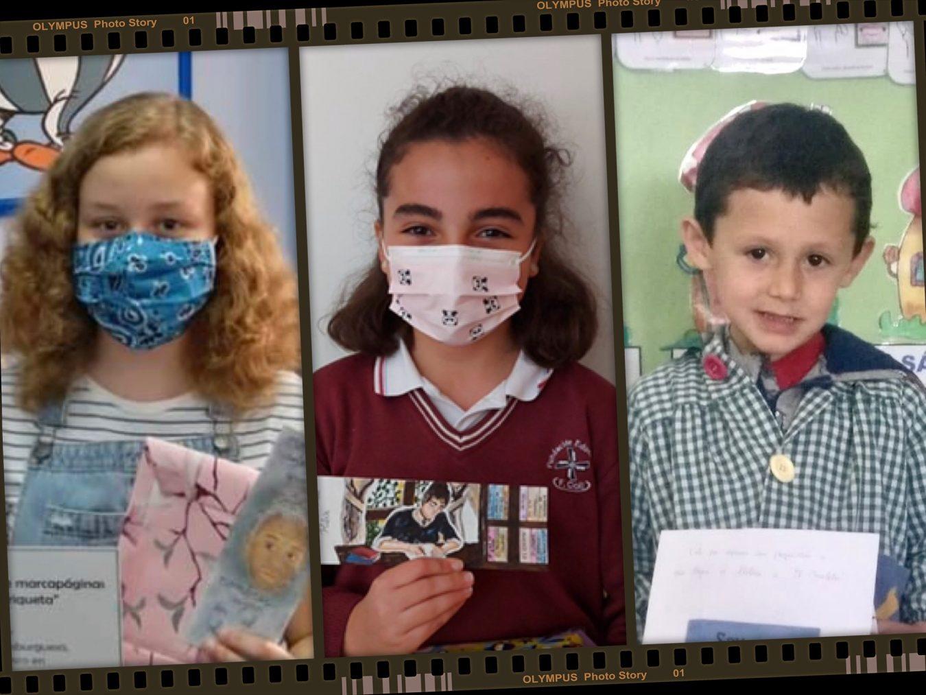 Marina, Arantxa y Alvaro ganan el Concurso sobre la imagen de Enriqueta convocado en Ribadesella