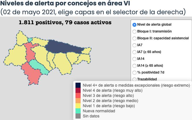 El Oriente de Asturias solo suma 3 contagios, pero tampoco faltan las sorpresas