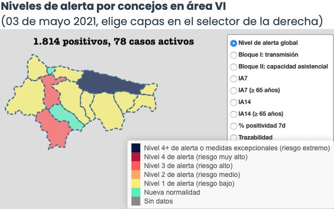 El Oriente de Asturias suma otros tres contagios en dos municipios