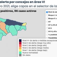 El Oriente de Asturias se tiñe de verde tras un domingo sin nuevos contagios