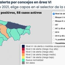 El martes deja dos nuevos positivos en un solo concejo del Oriente de Asturias
