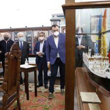 Revilla y Barbón juntos en el Museo de la Emigración
