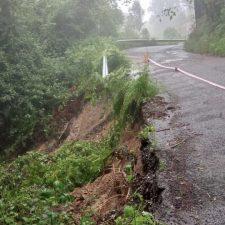 Los usuarios de la carretera AS-342 vuelven a denunciar el lamentado estado que presenta a su paso por Ribadesella