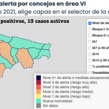 Salud asigna 4 nuevos positivos en el Oriente de Asturias